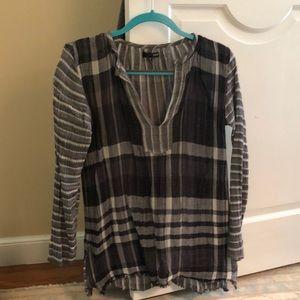 Aqua Checkered Top